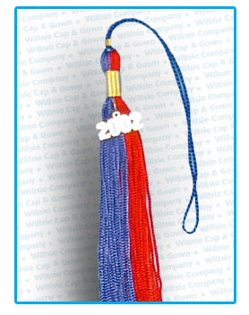 Souvenir Royal Blue & Red Mustang Tassel