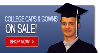College Caps and Gowns - Side