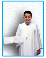 Premium Confirmation Gown in White Matte Finish